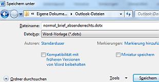 So Gehts Word 2010 Vorlagen Speichern